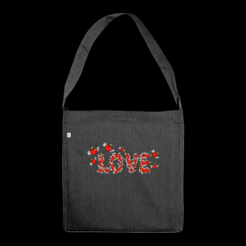 Flying Hearts LOVE - Shoulder Bag made from recycled material