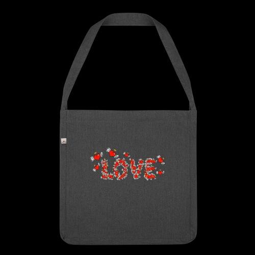 Flying Hearts LOVE - Skuldertaske af recycling-material
