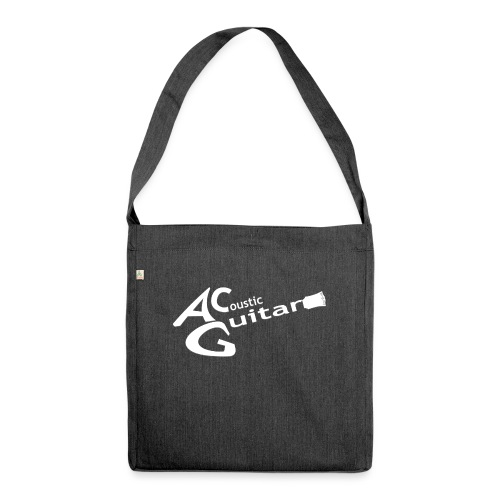 Acoustic Guitar Logo - White - Shoulder Bag made from recycled material