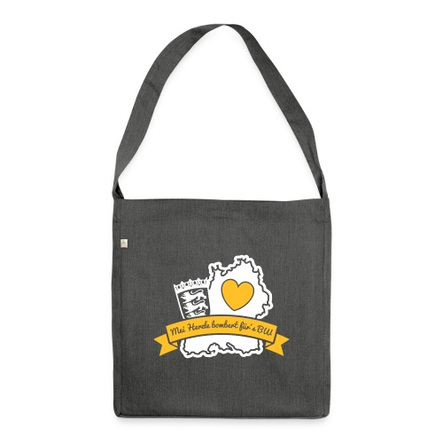 Herzle BW - Schultertasche aus Recycling-Material