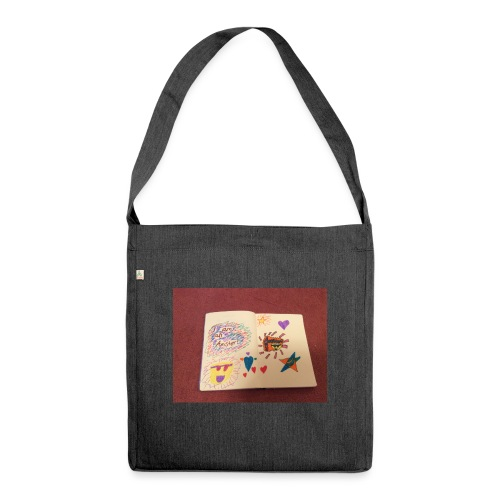 I am a Amster or Awesome Amy logo - Shoulder Bag made from recycled material