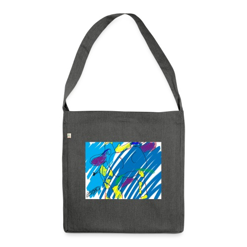 Signed Rainbow Cow - Shoulder Bag made from recycled material