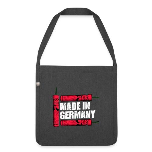 Silvester Feuerwerk Deutsche Knaller - Schultertasche aus Recycling-Material
