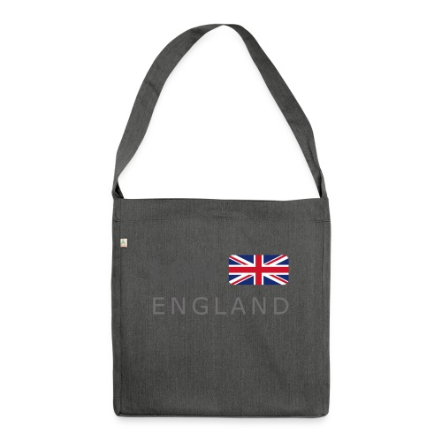 LON ENGLAND BF dark-lettered 400 dpi - Shoulder Bag made from recycled material
