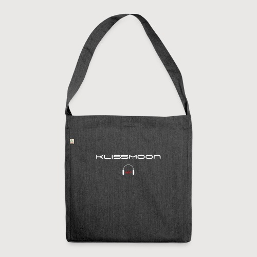 Klissmoon Logo white - Shoulder Bag made from recycled material