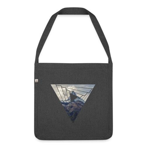 Matterhorn Zermatt Dreieck Design - Schultertasche aus Recycling-Material