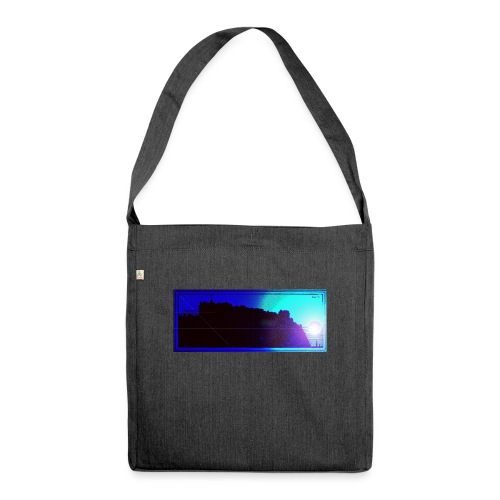 Silhouette of Edinburgh Castle - Shoulder Bag made from recycled material