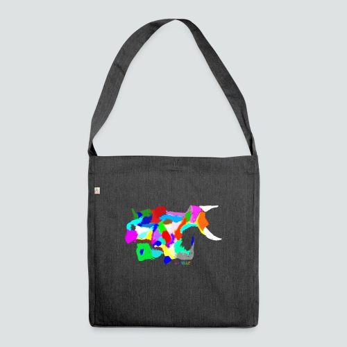 Papageienfisch2 png - Schultertasche aus Recycling-Material