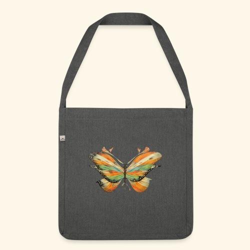 grande farfalla colorata - Borsa in materiale riciclato