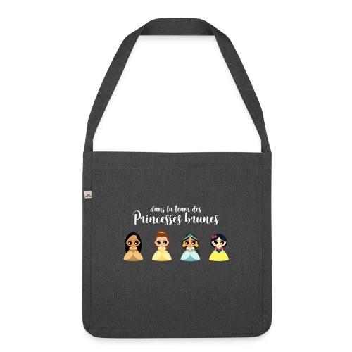 Team princesses brunes - Sac bandoulière 100 % recyclé