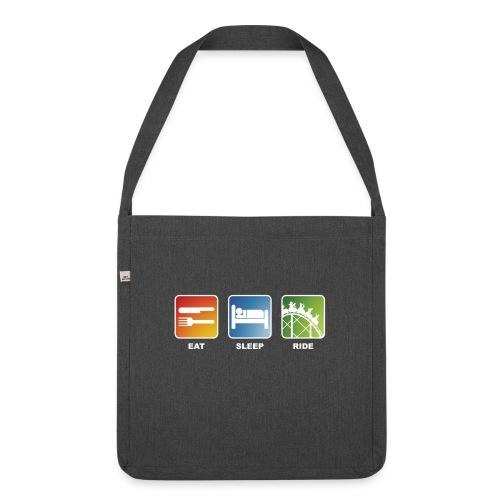 Eat, Sleep, Ride! - T-Shirt Schwarz - Schultertasche aus Recycling-Material