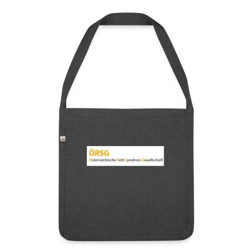 Text-Logo der ÖRSG - Rett Syndrom Österreich - Schultertasche aus Recycling-Material