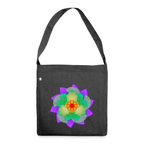 mandala 2 - Shoulder Bag made from recycled material