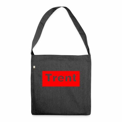 TRENT classic red block - Shoulder Bag made from recycled material