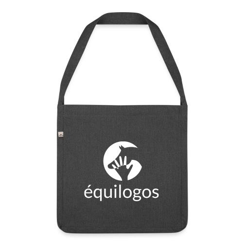 Equilogos logo blanc - Sac bandoulière 100 % recyclé