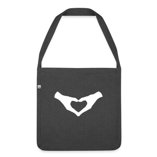 Herz Hände / Hand Heart 2 - Schultertasche aus Recycling-Material