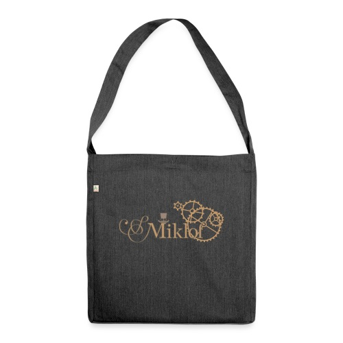 miklof logo gold outlined 3000px - Shoulder Bag made from recycled material