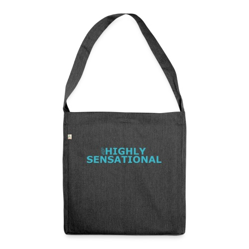 Highly sensational men's t-shirt - Shoulder Bag made from recycled material