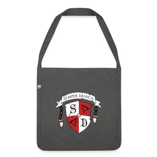 SD logo - sorte lænker - Skuldertaske af recycling-material