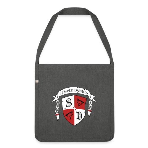 SD logo - hvide lænker - Skuldertaske af recycling-material