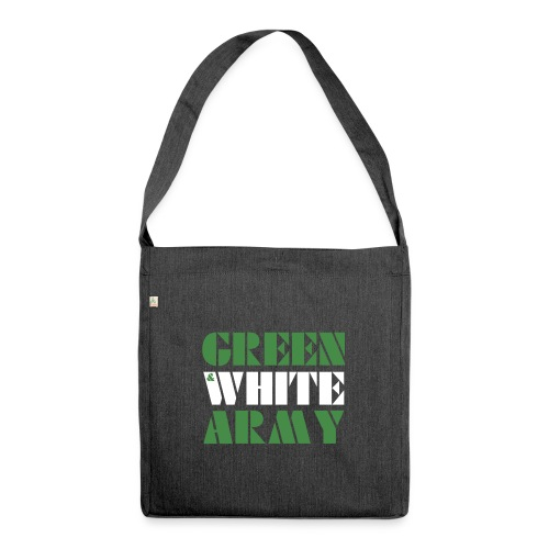 GREEN & WHITE ARMY - Shoulder Bag made from recycled material