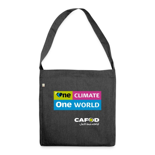 1C1W-tShirt front - Shoulder Bag made from recycled material