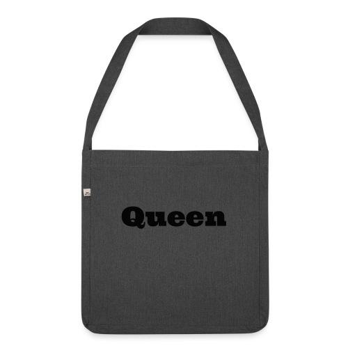 Snapback queen rood/zwart - Schoudertas van gerecycled materiaal