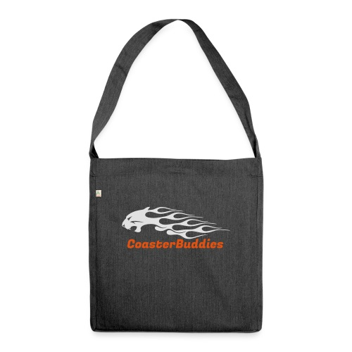 Coaster-Buddies Logo weiß - Schultertasche aus Recycling-Material