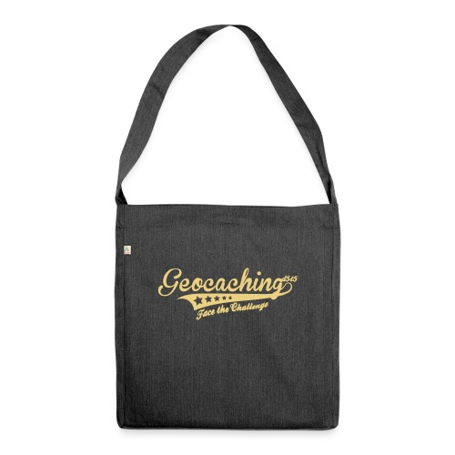 Geocaching - Face the Challenge - Schultertasche aus Recycling-Material