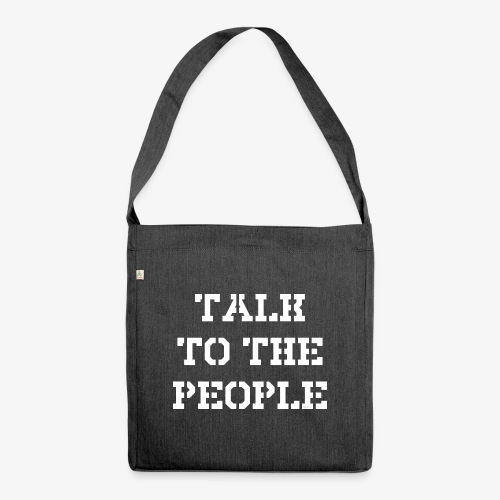 Talk to the people - weiß - Schultertasche aus Recycling-Material