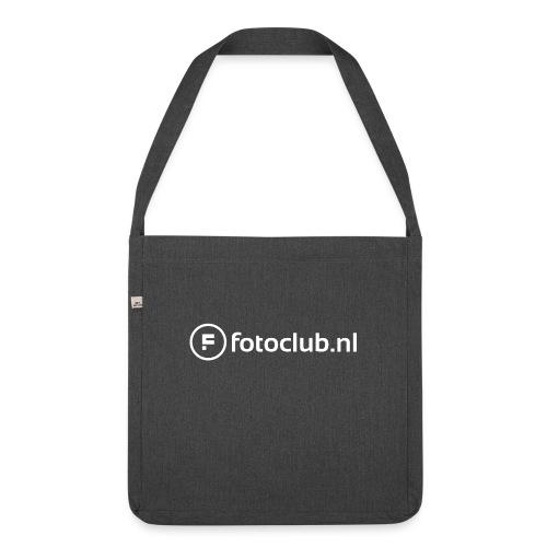 Logo Wit Fotoclublnl - Schoudertas van gerecycled materiaal