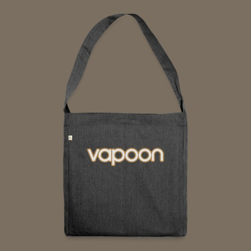 Vapoon Logo simpel 2 Farb - Schultertasche aus Recycling-Material