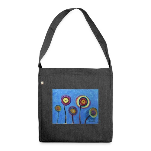 Blue flower - Borsa in materiale riciclato