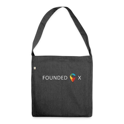 FoundedX logo white png - Shoulder Bag made from recycled material