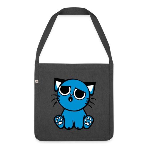 Kitty blues - Olkalaukku kierrätysmateriaalista