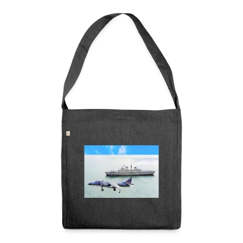 Sea harrier and Invicible digital oil - Shoulder Bag made from recycled material