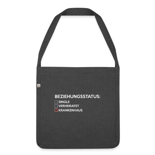 Beziehungsstatus - Krankenhaus - Schultertasche aus Recycling-Material