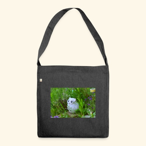 Eule - Schultertasche aus Recycling-Material