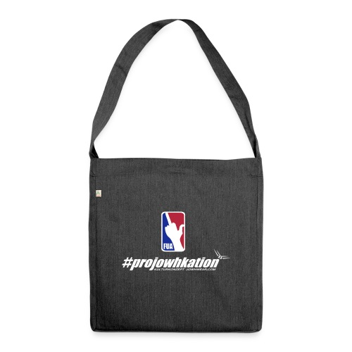fua projowhkation white - Schultertasche aus Recycling-Material