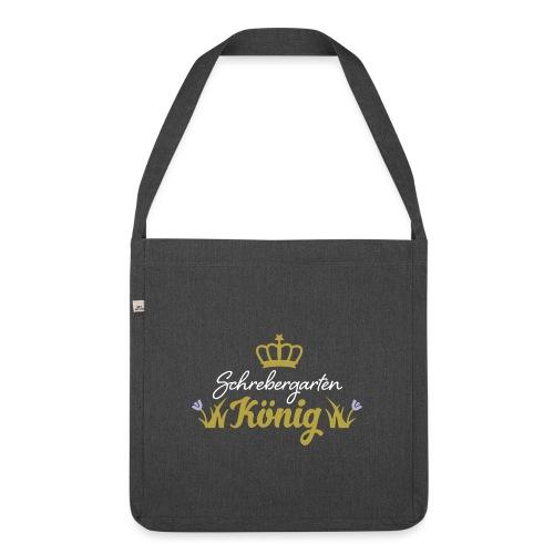 Schrebergarten König Garten Hobby Hobbygärtner - Schultertasche aus Recycling-Material