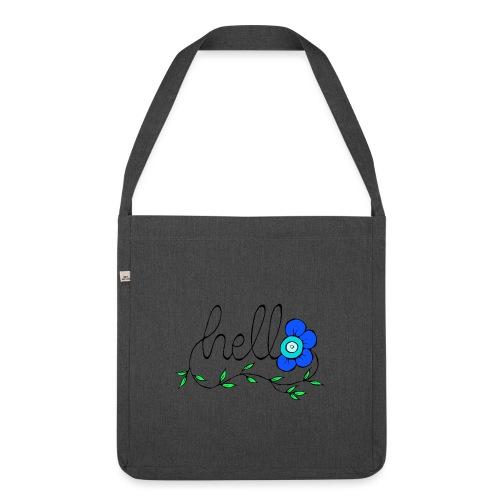 Hello Blume. - Schultertasche aus Recycling-Material