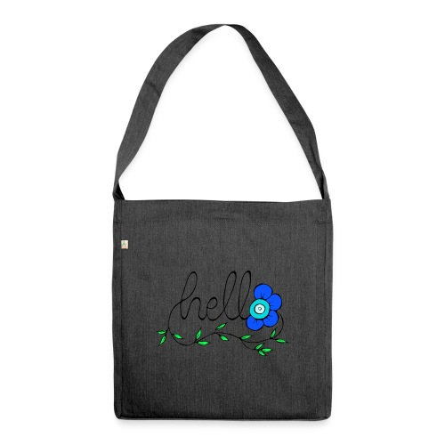 Hello Blume. - Schultertasche aus Recycling-Material