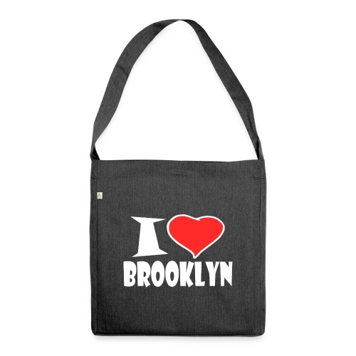 I Love Brooklyn - Schultertasche aus Recycling-Material