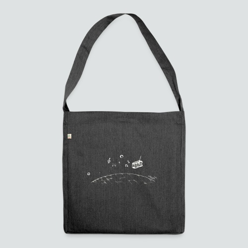 Spacemusic png - Schultertasche aus Recycling-Material