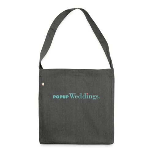 Popup Weddings - Shoulder Bag made from recycled material