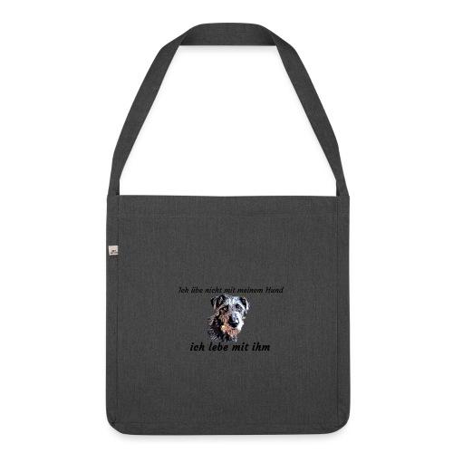 Ich lebe mit meinem Hund - Schultertasche aus Recycling-Material