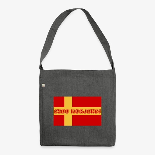 Sidu morjens! flagga - Axelväska av återvinningsmaterial