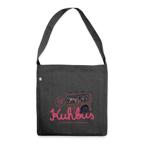 Der Kuhbus - Schultertasche aus Recycling-Material