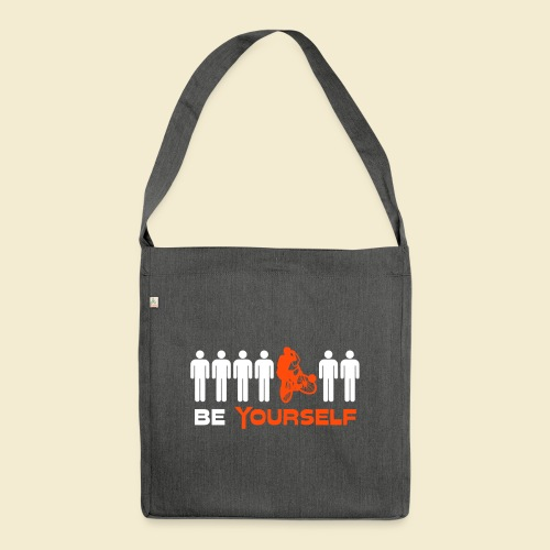 Radball | Be Yourself - Schultertasche aus Recycling-Material