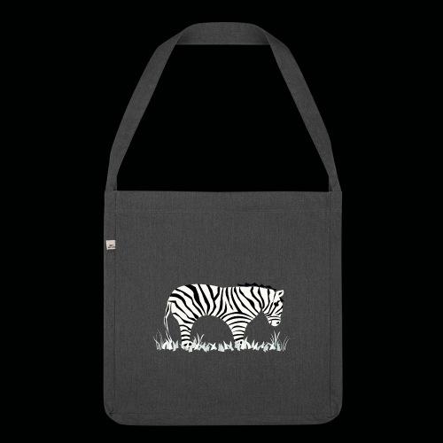 Zebra - Schultertasche aus Recycling-Material
